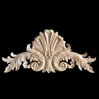 Wooden Decal Carved Hanging Supplies Corner Appliques Accessories Miniatures Decorative Lines Woodcarving Home Decor