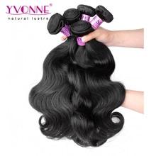 Top Quality Peruvian Body Wave 4 Bundles Human Hair Extension,8-28 Inches Aliexpress YVONNE Virgin Hair,Natural Color 1B