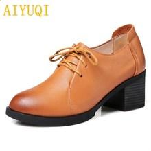 Купить с кэшбэком AIYUQI 2019 new spring genuine leather women shoes fashion elegant and comfortable hand-made high-quality brand shoes women
