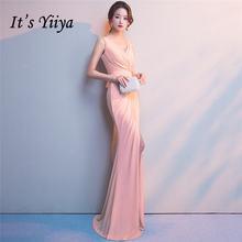 Женское вечернее платье с юбкой годе it's yiiya Зеленое
