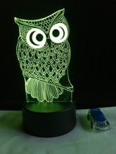 Lampka 3D Sowa