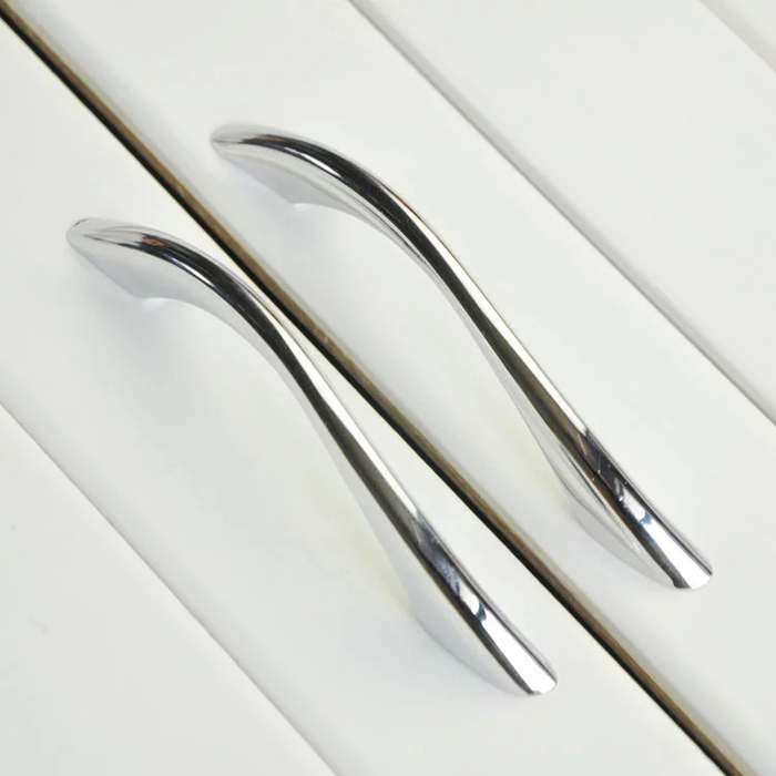 Modern Kitchen Cabinet Handles And Pulls: Modern Bathroom Kitchen Drawer Pull Handles Silver Chrome