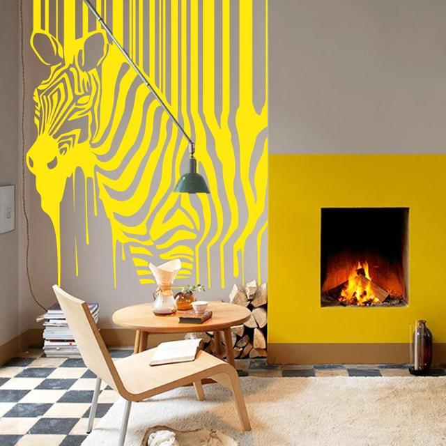 Art design hot selling home decoration painting zebra wall stickers ...