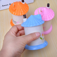 New Arrival Creative House Shaped Automatic Toothpick Holder Pocket Small Toothpick Box Random Color(China)