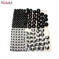 Triclicks 76 adet Siyah Gümüş Bolt Toppers Kapak Caps Kiti Plastik Cıvata Topper Cap Somun Kuruyemiş Cıvata Kapakları Için Harley Twin cam Dyna