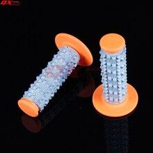 Orange 3D TPE rubber soft Hand Grips Dirt Bike Motocross Motorbike MX Girps Fit BSE KAYO KTM 7/8 Handlebar Free shipping