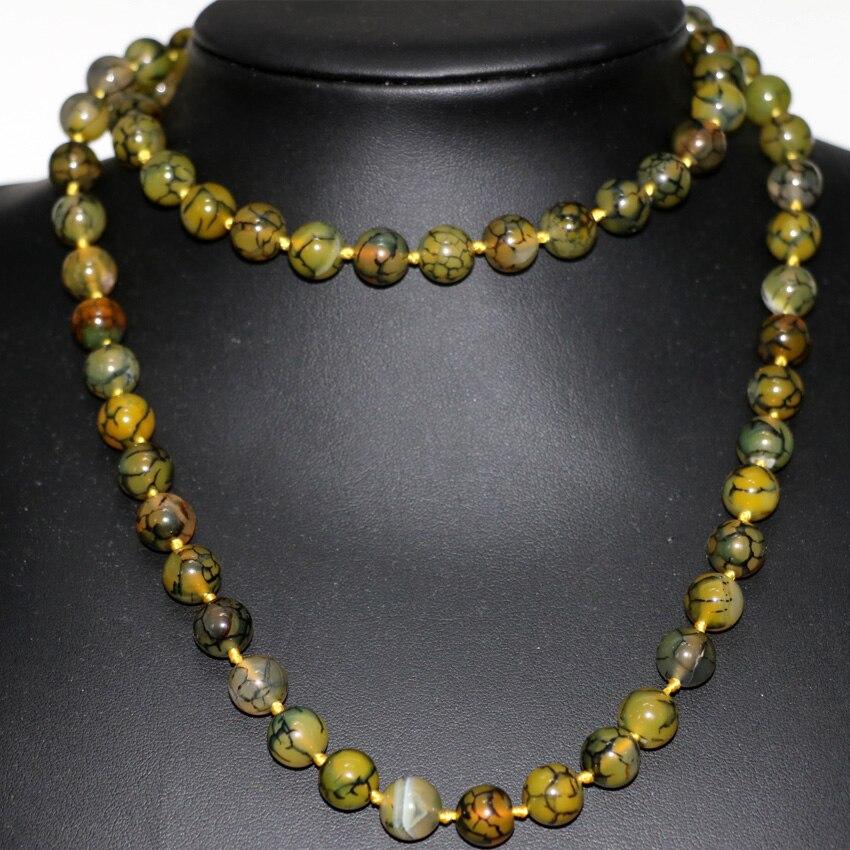 """Naturel Noir Agate Onyx Bloc De Pierres Précieuses Perles Collier 18/"""" AAA"""