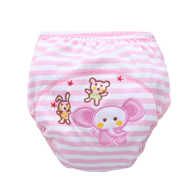 Wholesale 30Pcs/lot Free shipping kids Cotton Baby animal Potty baby Waterproof Training Pant Infant Learning Pant Bread Pants