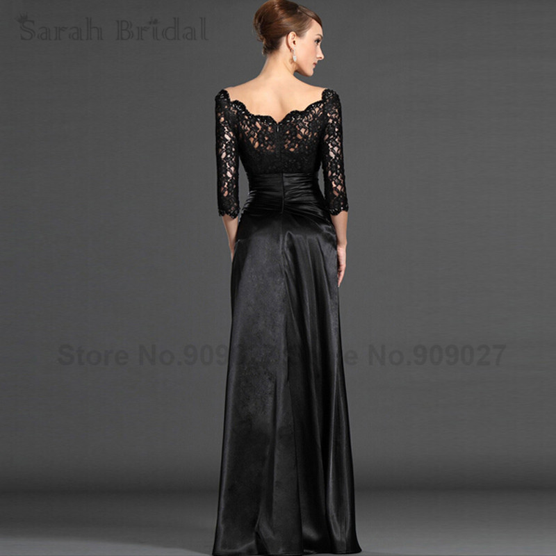 Aliexpress.com : Buy Hot Sale Elegant Lace Black Evening Dresses ...