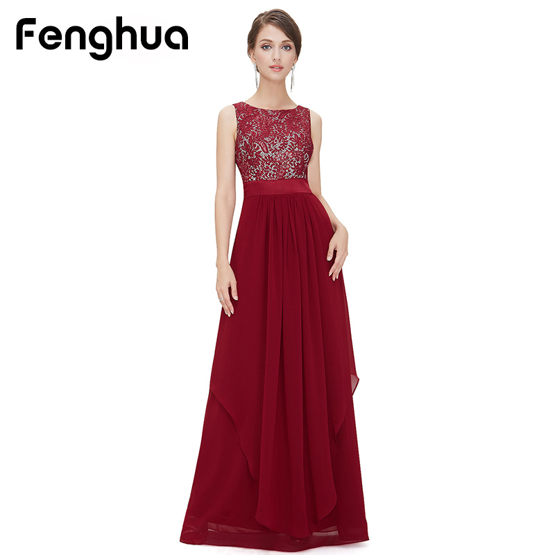 Fenghua Fashion 2018 Chiffon Lace Sleeveless Dress Women Summer Maxi Dress Party Long Slim Elegant Sexy Dress Female vestidos