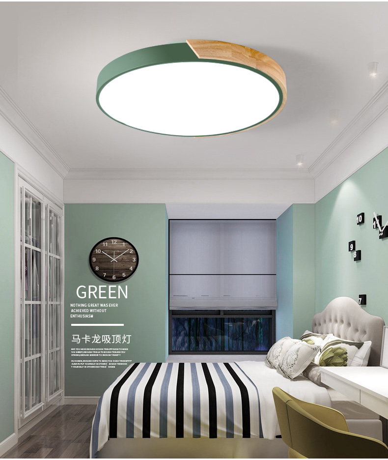 HTB1ZKRJKf5TBuNjSspcq6znGFXaV Nordic Oak App Dimmable Led Ceiling Lights Living Room Round Multicolor Alloy Led Ceiling Lamp Bedroom Led Ceiling Light Fixture