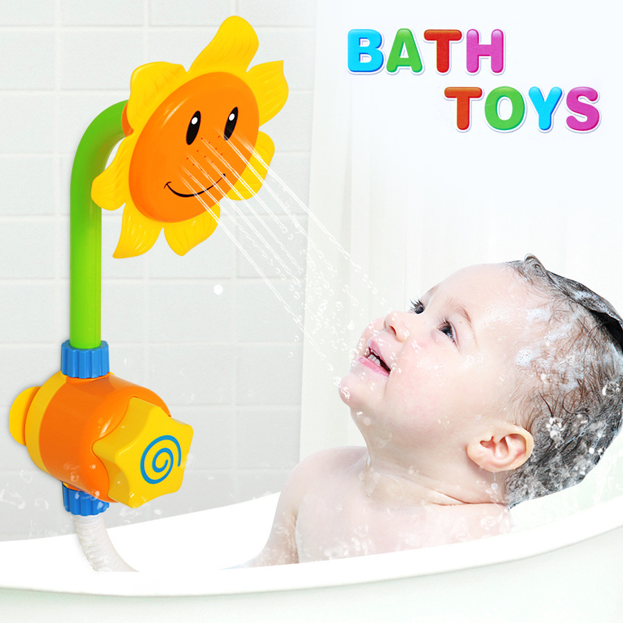 Baby Water Toys For Kids Bath Tools Sunflower Water Shower F
