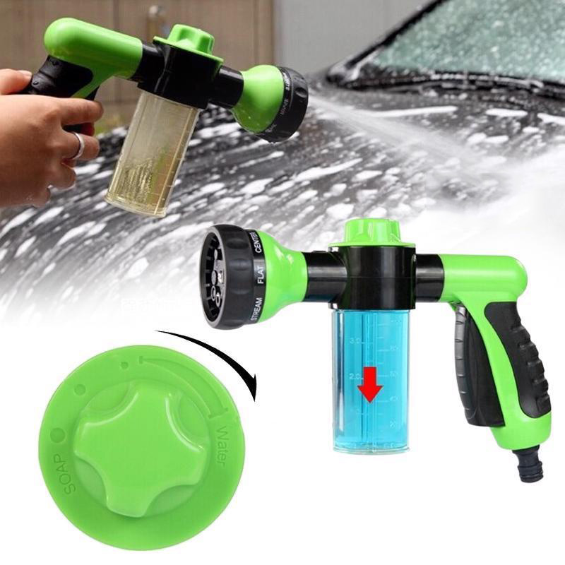 Multifunction Plastic Garden Hose Water Nozzles Soap Dispenser Jet High Pressure Watering Tool Household Car Washer Accessaries