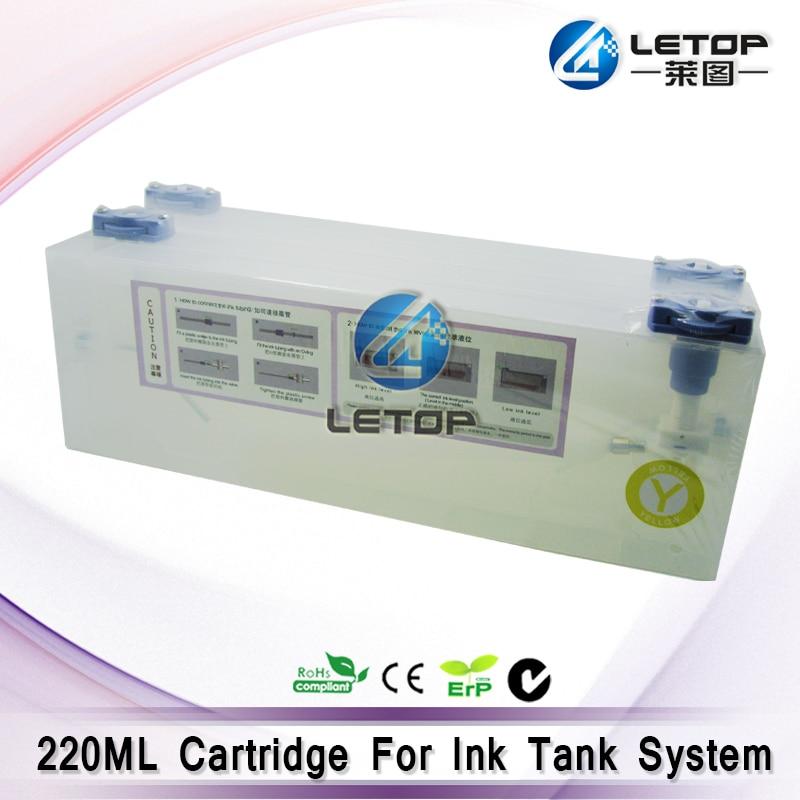 4 piezas CMYK 220 ml cartucho de tinta para Roland/Mimaki/Mutoh y otro sistema de tinta a granel de la impresora cartucho de CISS