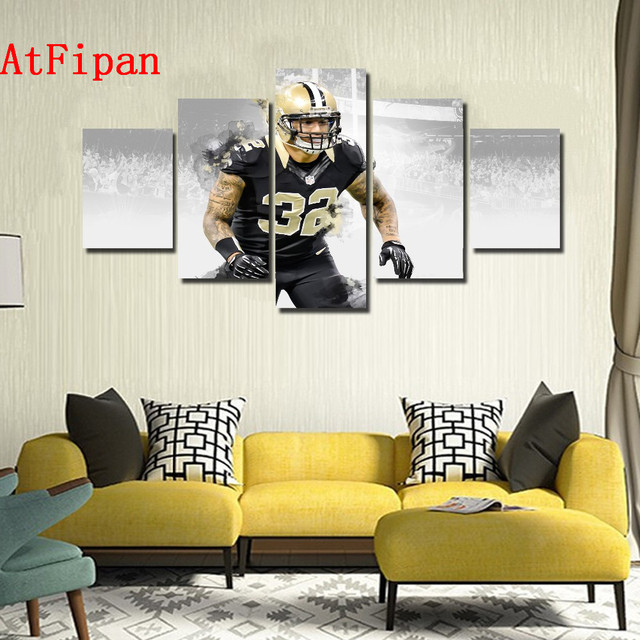 Atfipan Wall Art Poster New Orleans Saints Player 32 Kenny Vaccaro Modern Home Decor Unframed