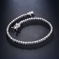 18cm tennis bracelets 925 silver jewelry 2mm crystal round stones top quality jewellery luxury sterling silver Bracelet & bangle