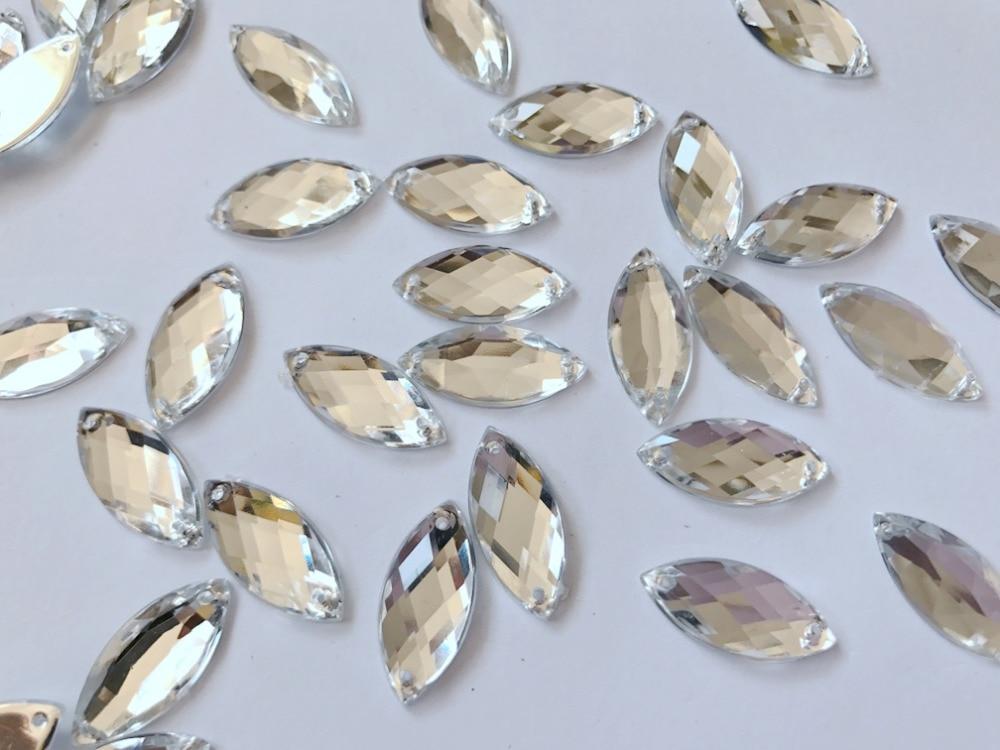 Бесплатная доставка Серебряный Наветт форма 9*20 мм пришить Акрил кристалл аксессуар свободные драгоценный камень горный хрусталь strass 100 шт./пакет