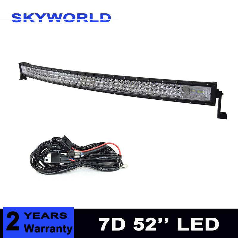 52'' 675W 3 Rows Led Work Light Bar for Tractor Boat OffRoad 4WD 4x4 Truck SUV ATV Driving Motorcycle 12V 24V 21w round led work offroad light spot lamp 10 30v led driving light 4wd atv boat truck 4x4 tractor motorcycle working headlight