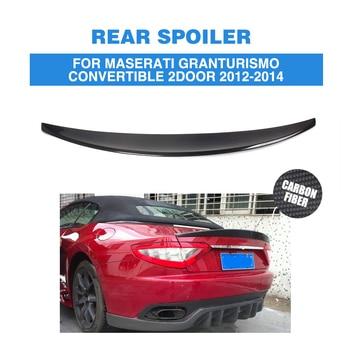 Z włókna węglowego/FRP niemalowanej tylny Spoiler bagażnika Auto Boot Lip skrzydła dla Maserati Gran Turismo® cabrio 2 drzwi płaskie 2012-2014