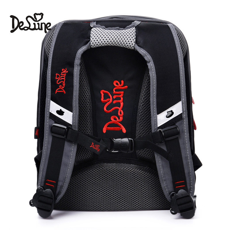 Delune Brand Car Pattern School Bags For Boys Large Multi layer Backpack Cartoon Children Orthopedic Backpacks Mochila Infantil in School Bags from Luggage Bags