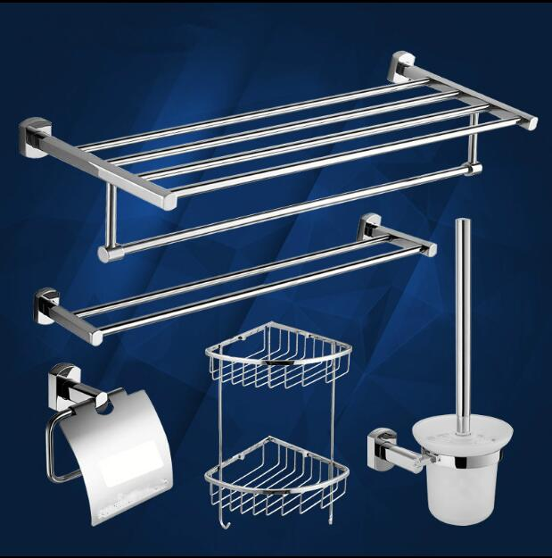 Modern sanitary hardware set chrome Finished Bathroom Accessories Products ,Towel Holder,Towel Bar towel ring set Free Shipping sanitary ware ffcf6588 towel bar bathroom accessories metal pendant
