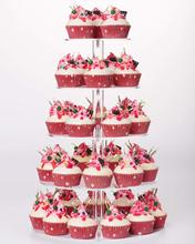 YestBuy 5 Tier Maypole Round  Clear Wedding Party Tree Tower Acrylic Cupcake Display Stand ((10cm gap)(16.3 Inches) Normal