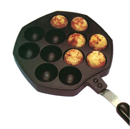 Octopus Barbecue Plate Burning Stove With Handle Plate Takoyaki Burning Board Cake Tools Pans burning time