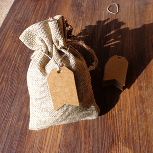 3x5cm 300PCS Kraft Blank Kraft Paper Hang tag Flag Shaped Zigzag Gift tag Paper Labels Natural hemp string included Garment Tag