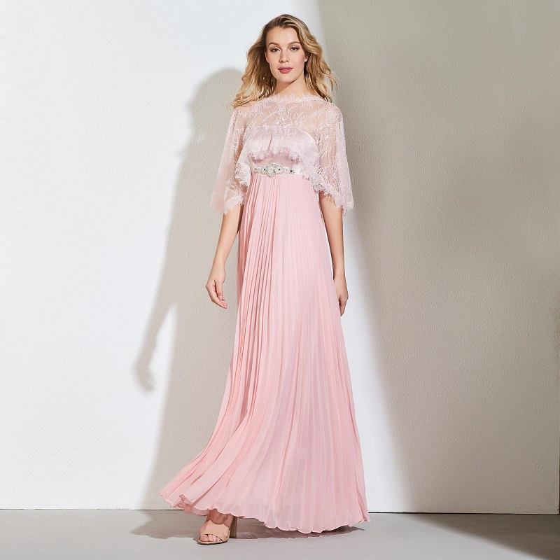 87625cda13340 US $135.22 50% OFF|Tanpell with jacket prom dresses dark pearl pink floor  length a line dress women formal evening party plus custom long prom  gown-in ...