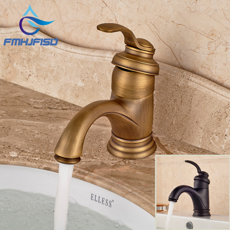 Free Shipping Bathroom Basin Faucet with Single Handle Single Hole Antique Brass / Oil Rubbed Bronze free shipping bathroom basin faucet with single handle single hole antique brass oil rubbed bronze