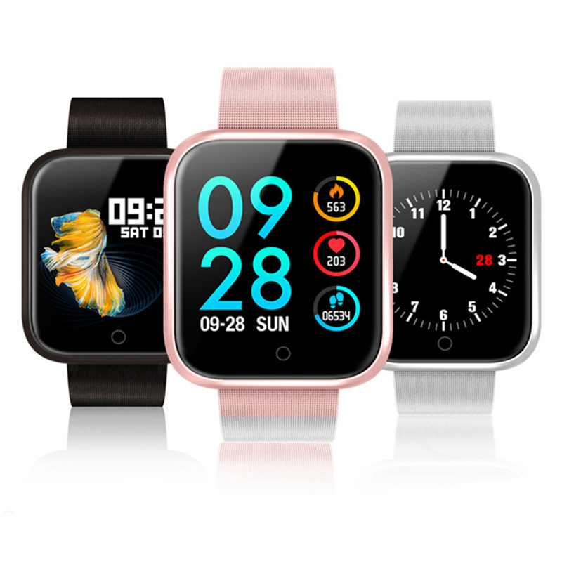 P68 smartwatch women color screen IP68 waterproof bluetooth smart bracelet Heart Rate Blood Pressure Monitoring relogio femininoP68 smartwatch women color screen IP68 waterproof bluetooth smart bracelet Heart Rate Blood Pressure Monitoring relogio feminino