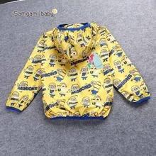 Новый дизайн миньоны тонкий пальто одежда для новорожденных толстовки дети для детей мультфильм ветровка детская одежда верхняя одежда куртки