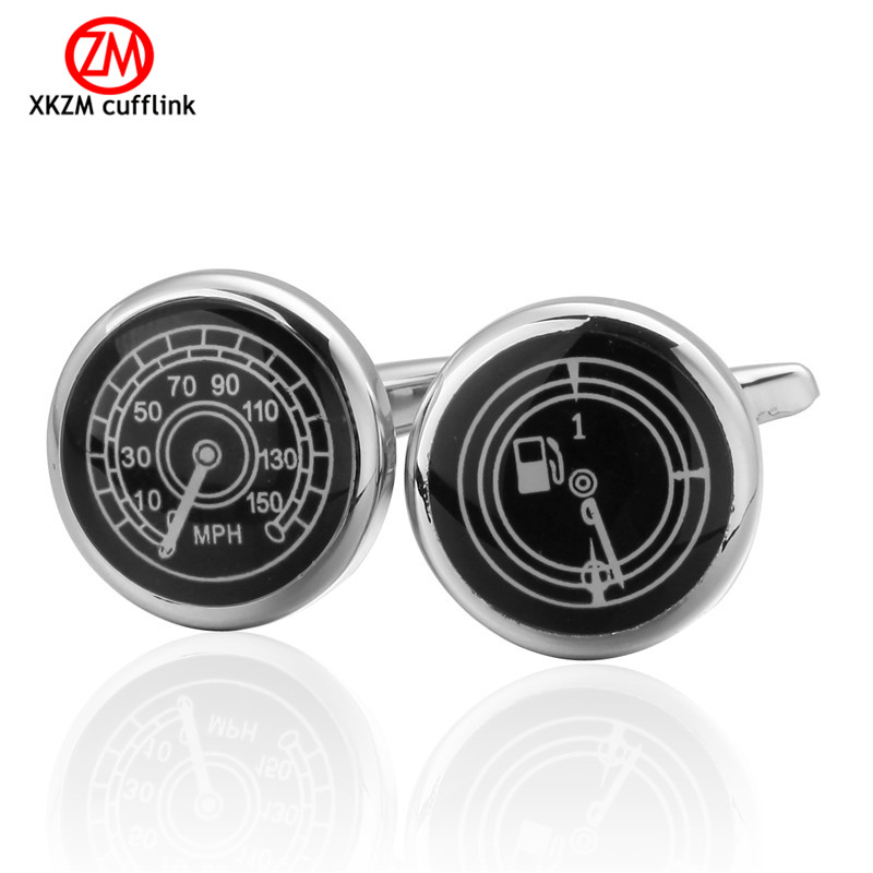 Newest oil speedometer Cufflinks High Quality for Mens Shirt Wedding Party Cuff Links The Bake Lacquer Cuff Button Accessories