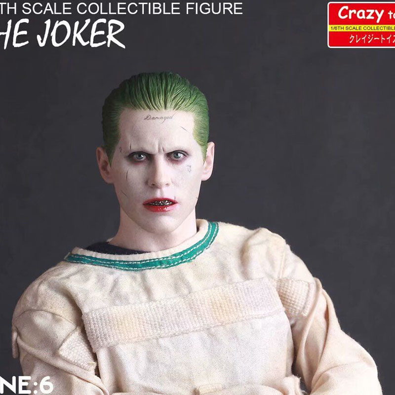 DC Suicide Squad Joker in Psychiatric Hospital Arkham Asylum Version BJD Joints Movable Crazy Toys Action Figure Model Toys
