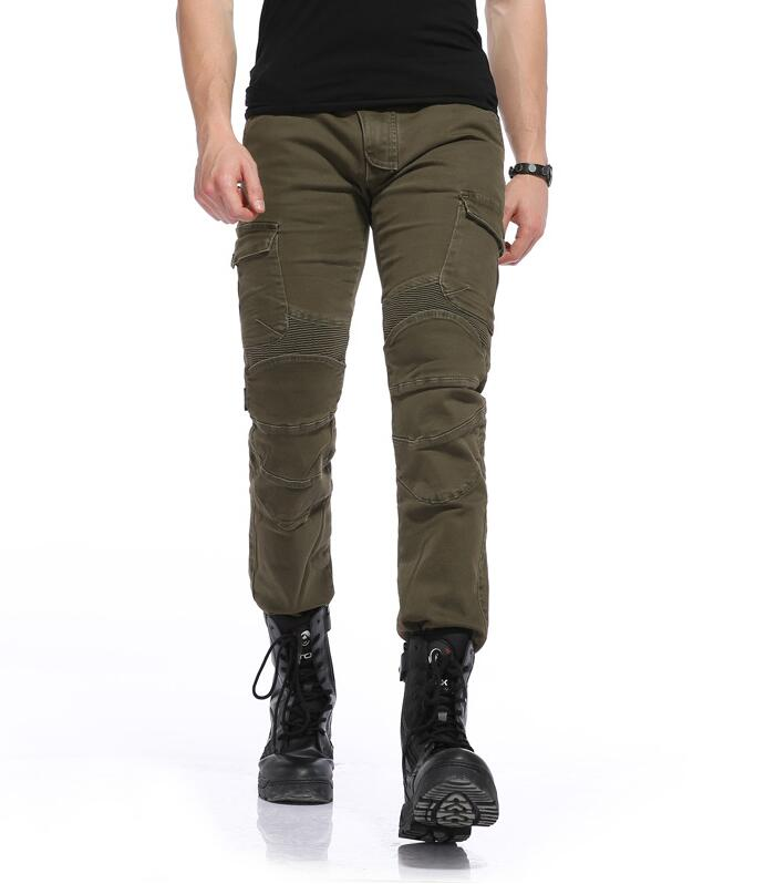 New Star Field Knight Motorcycle wrestling riding jeans motorcycle rider pants protection handsome army green