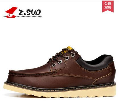 Zsuo men s casual leather plus size low shoes 2018 zsuo male most popular fashion leather