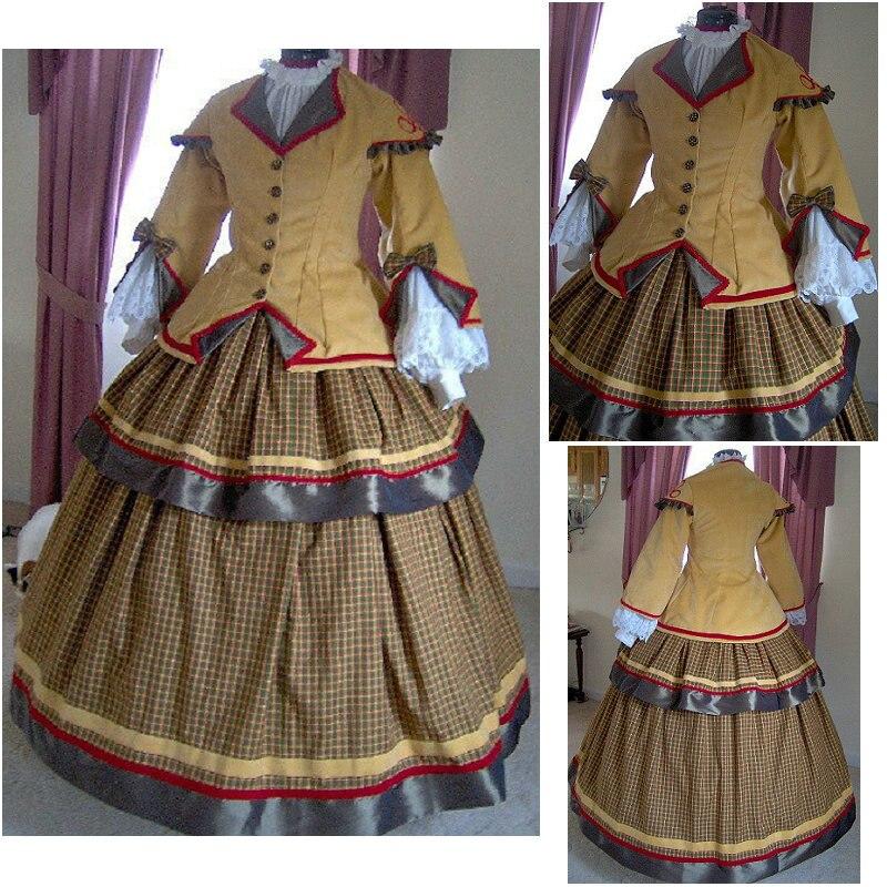 En vente R-174 victorien gothique/guerre civile sud Belle robe de bal robe Halloween robes