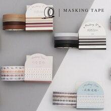 4Pcs/set 5mm Kawaii Solid Color Slim Washi Tape for DIY Decorative Adhesive Labels Masking Tape Sticker Scrapbooking Stationery