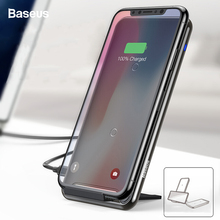 Baseus 10W 2/3-Coils Qi Wireless Charger For iPhone 11 Pro Max Xr Samsung S10 S9 Fast Wireless Charging Pad Docking Dock Station