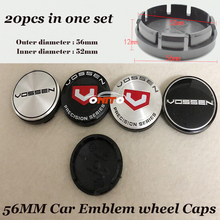 Good Quality 20pcs set of For 56mm ABS Label Car Emblem Wheel hub Caps Car Stickers