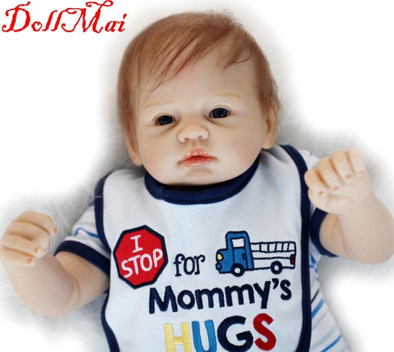 Poupée bébé dollmai 55CM 22 pouces poupée bebes Reborn poupées fille réaliste Silicone Reborn poupée mode garçon fille nouveau-né Reborn bébés - 3