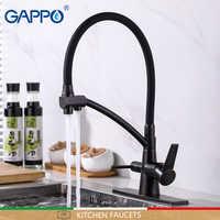 Grifos de cocina GAPPO negro con grifo de agua filtrada grifo de fregadero de cocina grifo con filtro grifo de cocina grúa mezclador grifos torneira