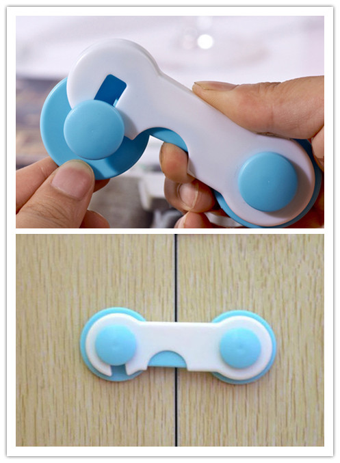 5pcs/lot Baby Safety Locks Children Protection Door Drawer Cabinet Closet Protection Lock For Kids Security Fridge Toilet Lock