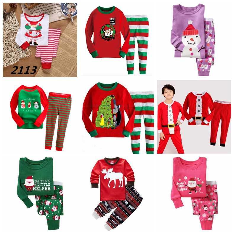 New 100% Cotton Christmas Pajamas Set Cartoon Boys Sleepwear Children s  Pajamas For Boys 2- 741f975ab