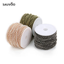 10Yard/roll 1.5mm 2mm 2.4mm Round Ball Beaded Chain 7 Colors Iron Bulk Necklace Chain for DIY Bracelets Jewelry Making Materials(China)