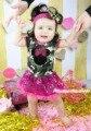 Минни камуфляж боди девушки розовый шику блесток детское платье экипировка комплект NB-18M