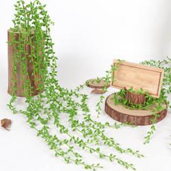 5 вилки 82 см искусственные зеленые горшечные растения стена из виноградных лоз висит подделка декоративное растение декоративные растения