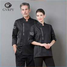 Overalls Chef-Uniforms Cooking-Jacket Food-Service Bakery Hotel Cafe Kitchen Long-Sleeve
