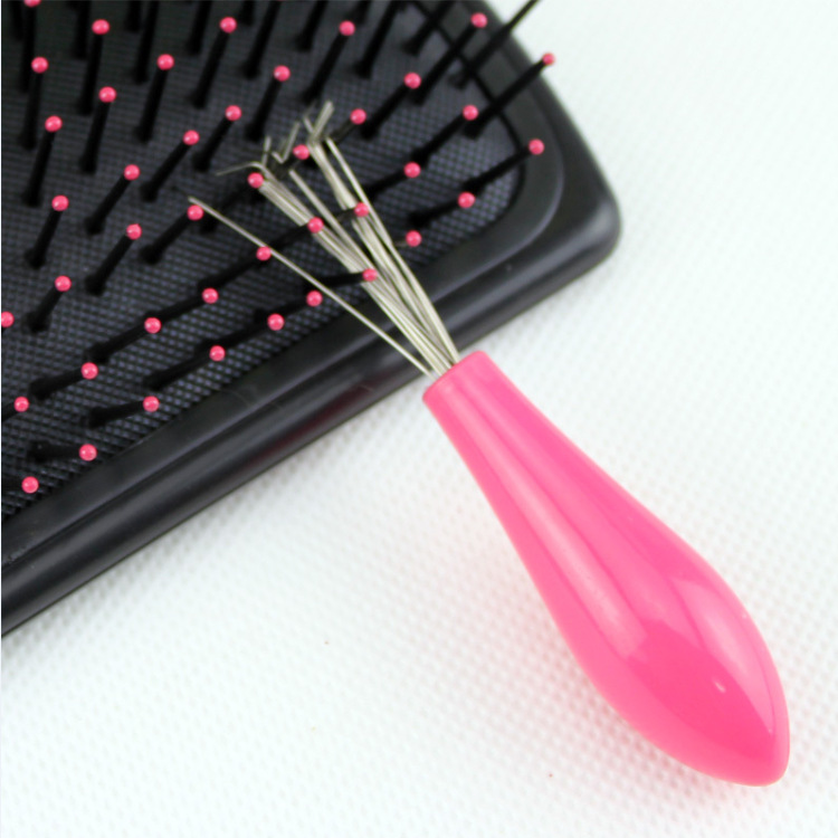 20Pcs Fashion New Hair Brush Comb Cleaner Embedded Tool Plastic Cleaning Removable Handle Random Color With High Quality Handle