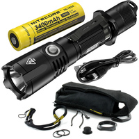 NIitecore MH25GTS LED Flashlight CREE XHP35 HD 1800 Lumens Tactical Flashlight by 18650 Rechargeable Battery for First Aid